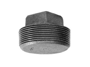 Black Cast Iron SOLID SQ Head PLUG