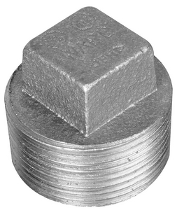 Galvanized Cast Iron CORED PLUG