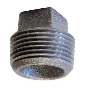 Galvanized Cast Iron CORED PLUG2